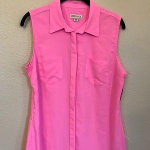 [Merona] Hot Pink sleeveless blouse